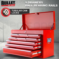 PRE-ORDER BULLET 9 Drawer Tool Box Chest Organiser Mechanic Garage Storage Toolbox Set