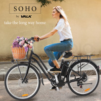 PRE-ORDER VALK Vintage Style Electric Bike, with Step-Through Frame, Black