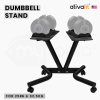 ATIVAFIT Rolling Stand for Pair of Adjustable 25kg or 32.5kg Dumbbells, for Home Gym Fitness Training