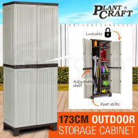 PLANTCRAFT Lockable Outdoor Storage Cabinet - Cupboard Garage Carport Shed