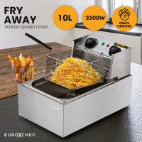 EuroChef Commercial Electric Deep Fryer Frying Basket Chip Cooker Fry Scoop