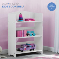 DELTA CHILDREN Kids Furniture Bookshelf, White