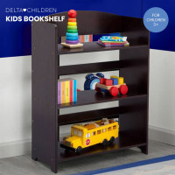 DELTA CHILDREN Kids Furniture Bookshelf, Dark Chocolate