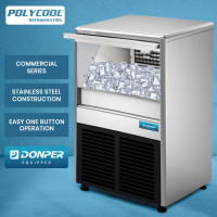 POLYCOOL IM-75L Commercial Ice Machine Maker, Automatic, 45kg/24 hr, Undercounter, Stainless Steel