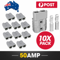 10 x 50A Anderson Style Power Plug Connectors and Terminals Pack