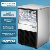 POLYCOOL IM-85L Commercial Ice Machine Maker, Automatic, 60kg/24 hr, Undercounter, Stainless Steel