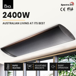 BIO 2400W Electric Outdoor Strip Heater Radiant Slimline Panel Heat Bar