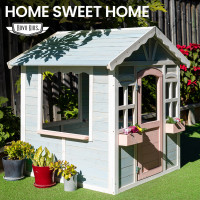 ROVO KIDS Cottage Style Girls Wooden Outdoor Cubby House