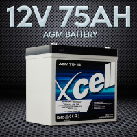 X-CELL AGM Battery 12V 76Ah Portable Sealed