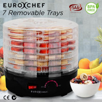 EuroChef 7 Trays Food Dehydrator Healthy Maker Jerky Dryer Fruit Preserver