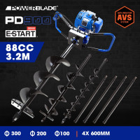 POWERBLADE Post Hole Digger 88CC Posthole Earth Auger Fence Borer Petrol Drill