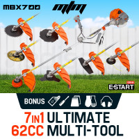 PRE-ORDER MTM 62CC Brush Cutter Whipper Snipper Trimmer Edger Brushcutter Multi Pole Tool
