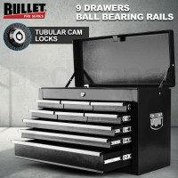 PRE-ORDER BULLET 9 Drawer Tool Box Chest Mechanic Garage Storage Toolbox Set Organiser