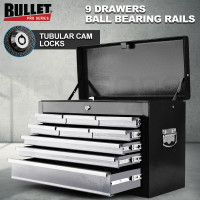 PRE-ORDER BULLET 9 Drawer Tool Box Chest Garage Storage Mechanic Organiser Toolbox Set