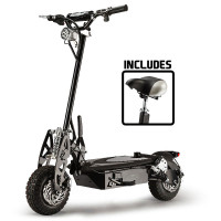 BULLET® Black 48V 1000W Turbo w/ LED Folding Electric Scooter For Adults- Stealth 1-6
