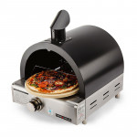EuroGrille Portable Pizza Oven BBQ Camping LPG Gas Stainless Steel Benchtop