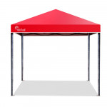 Red Track 3x3m Folding Gazebo Shade Outdoor Pop-Up Red Foldable Marquee Red