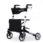 EQUIPMED Rollator Walking Frame Walker Foldable Seat Mobility Aid Aluminium