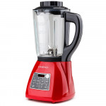 EUROCHEF 10in1 Soup Maker Electric Machine with Glass Jug Blender Smoothie Maker Red