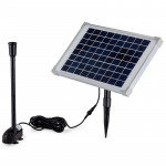 50W Solar Powered Fountain Submersible Water Pump Pond Kit Power Garden Panel