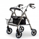 EQUIPMED Foldable Rollator Walking Frame Outdoor Indoor Mobility Walker Aids