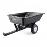 PLANTCRAFT 400LBS Poly Dump Cart Garden Tip Trailer Tray Tow Quad ATV Ride