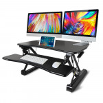 FORTIA Computer Desktop Sit/Stand Height Adjustable Riser 90cm Black