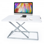 FORTIA Laptop Sit/Stand Height Adjustable Riser Desk 74cm White