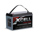 X-CELL 130Ah 12v Lithium-Iron LiFePO4 Deep Cycle Battery with BMS, for Camping, 4WD, Solar