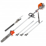 62CC Long Reach Pole Chainsaw Hedge Trimmer Pruner Chain Saw Cutter Multi Tool