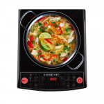 EuroChef Electric Induction Portable Cooktop Ceramic Hot Plate Kitchen Cooker 15AMP