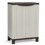 PlantCraft 91cm Lockable Outdoor Storage Cabinet - Light Grey