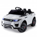 Rovo Kids White 12V Toy Remote Control Kids Ride On Electric Cars