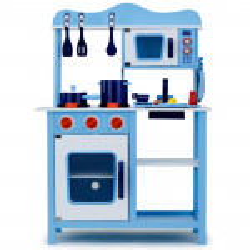 ROVO KIDS Wooden Kitchen Pretend Play Set Toy Children Cooking Home Cookware