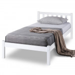 Single Wooden Pine Bed Frame Timber Kids Adults Contemporary Bedroom Furniture