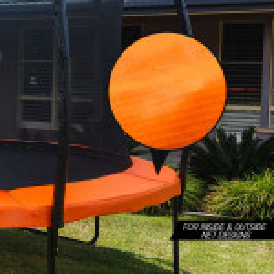 UP-SHOT 12ft Trampoline Replacement Padding Orange Inside/Outside Net Design