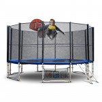 16ft Round Trampoline FREE Basketball Set Safety Net Spring Pad Cover Ladder