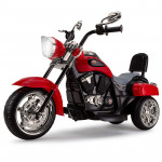 ROVO KIDS Electric Ride On Motorbike Motorcycle Harley Style Battery Toy Chopper Red