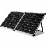 G&P 12V 160W Folding Portable Mono Solar Panel Kit Caravan Camping Power USB