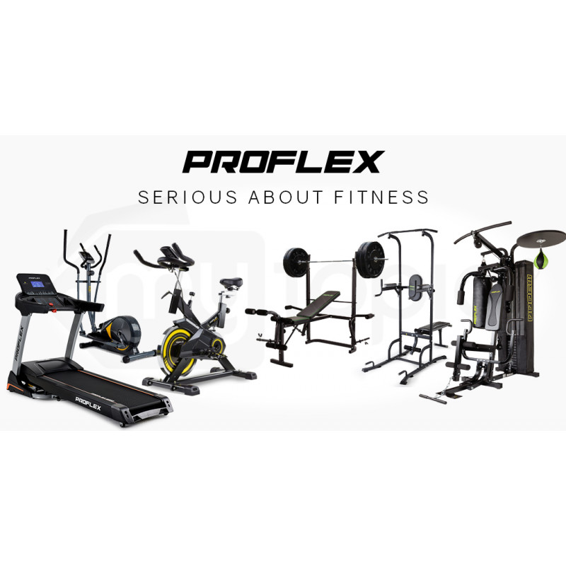 PROFLEX Pair of 30lb Rubber-Coated Hex Dumbbells for Gym Home Fitness Bodybuilding Weights Training by Proflex