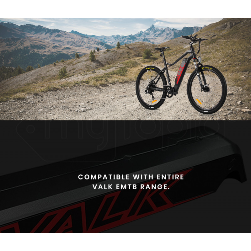VALK RANGE+ 13Ah 36V Replacement eMTB Electric Mountain Bike eBike Battery Spare Upgrade, Red Decals by Valk