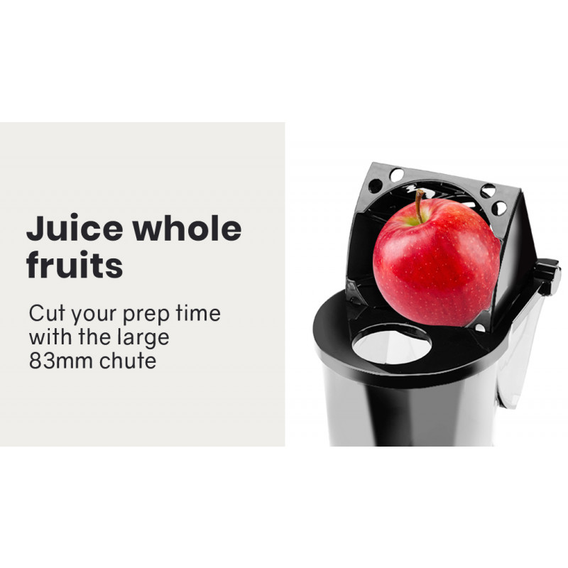 EUROCHEF Cold Press Slow Juicer, Whole Fruit Chute, with Sorbet function, Red/Silver by EuroChef