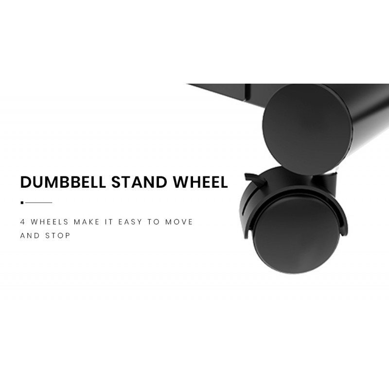 ATIVAFIT Rolling Stand for Pair of Adjustable 25kg or 32.5kg Dumbbells, for Home Gym Fitness Training by Ativafit