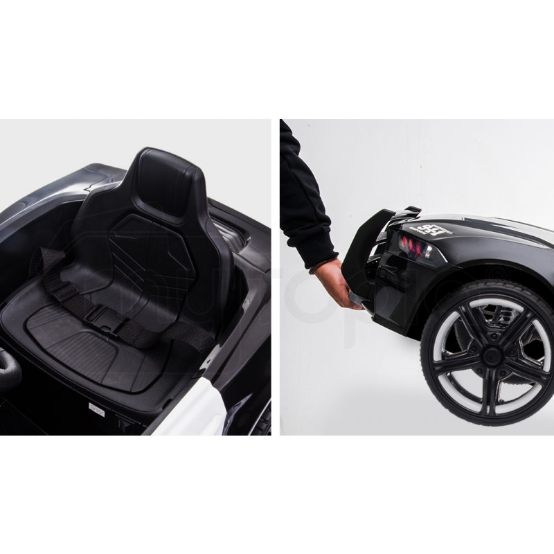 ROVO KIDS Mustang Inspired Electric Kids Ride On Car Battery Powered 12V - Black by Rovo Kids