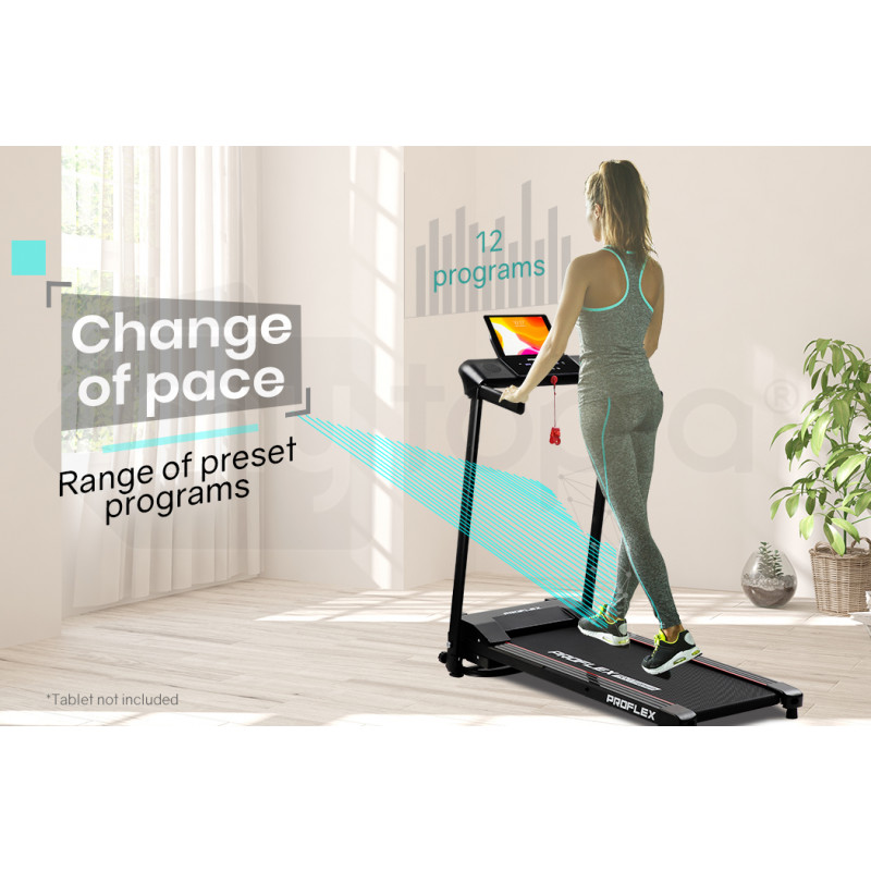 PROFLEX Electric Compact Foldable Treadmill with Bluetooth Speakers, Digital Device Stand-3 by Proflex