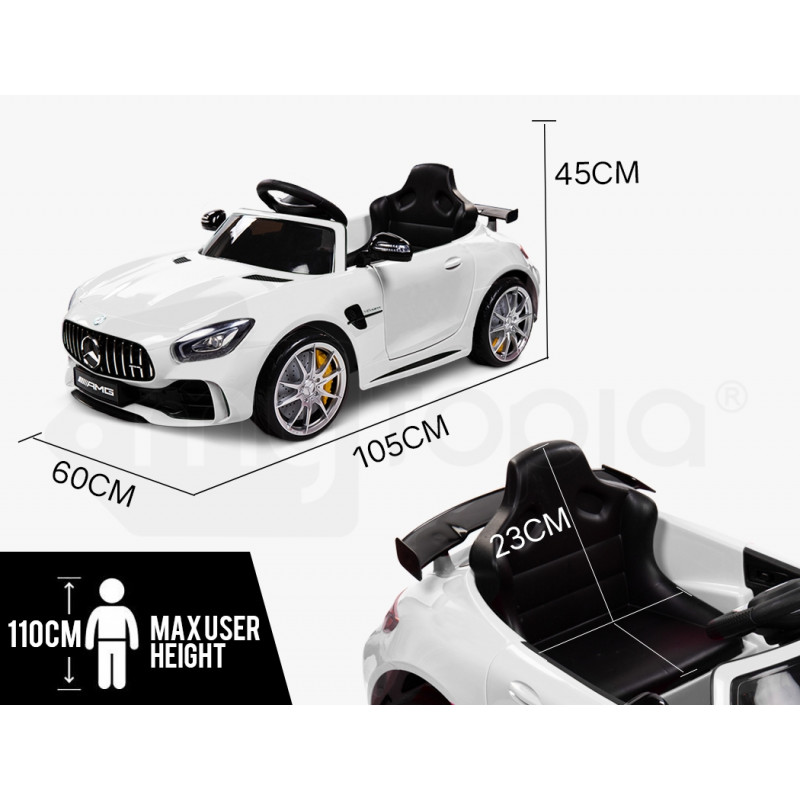 Kids Ride On Car Licensed Mercedes-Benz AMG GTR Electric Toy Battery Remote WT by Rovo Kids