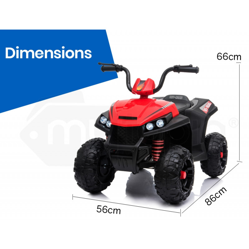 ROVO KIDS Electric Ride On ATV Quad Bike Battery Powered - Black and Red by Rovo Kids