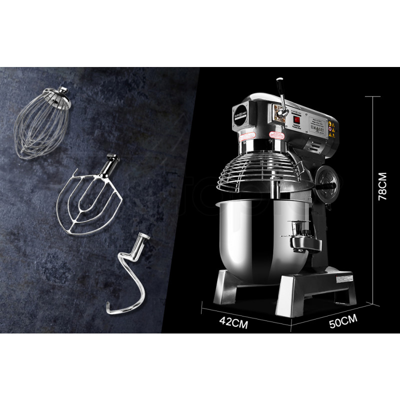 EuroChef Silver 20L Commercial Grade Planetary Mixer by EuroChef