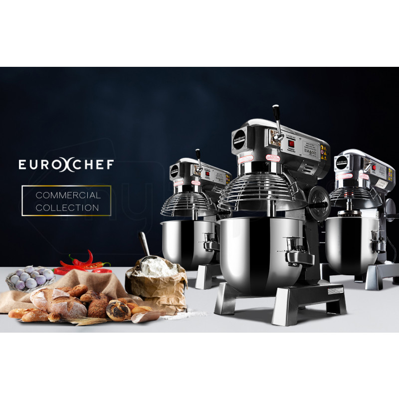 EuroChef Silver 10L Commercial Grade Planetary Mixer by EuroChef