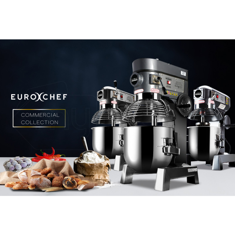 EuroChef Silver 30L Commercial Grade Planetary Mixer by EuroChef